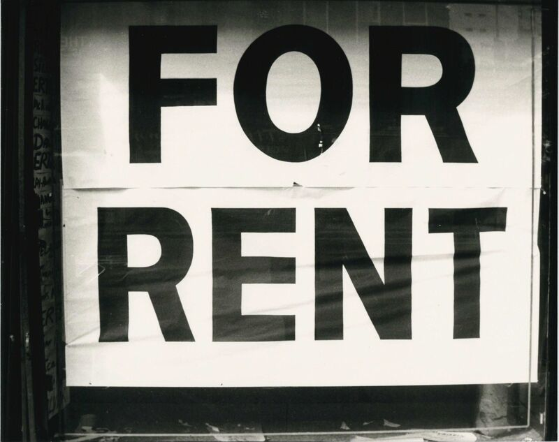 Andy Warhol, 'For Rent Sign', 1980s, Photography, Gelatin silver print, Hedges Projects