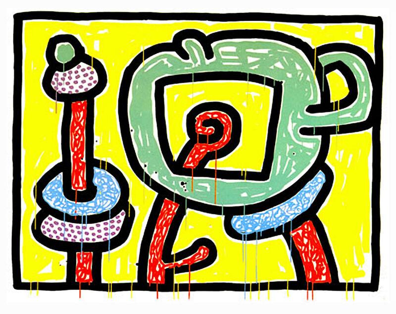 Keith Haring, 'Flowers III', 1990, Print, Silkscreen on paper, Taglialatella Galleries
