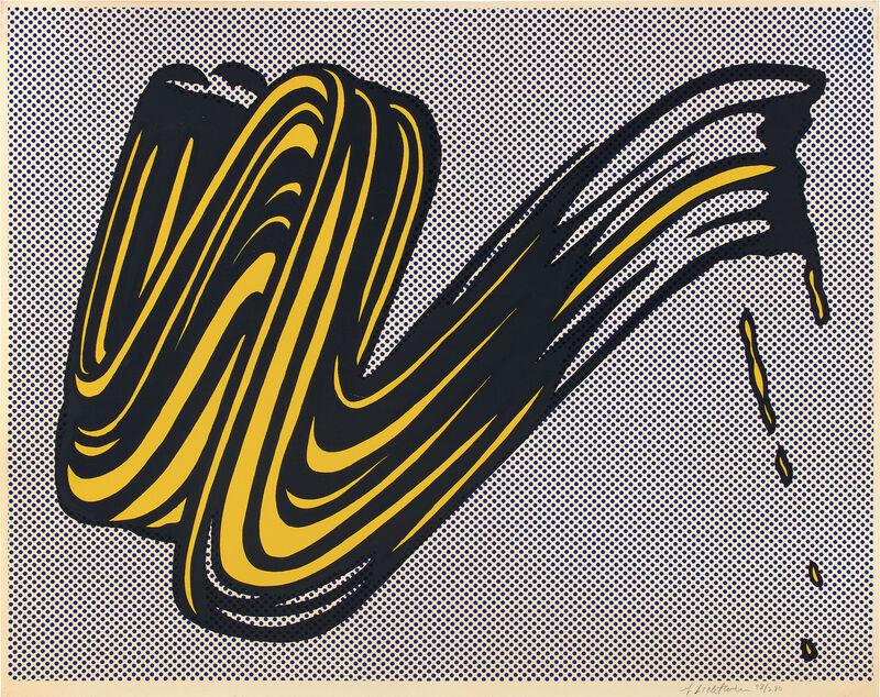 Roy Lichtenstein, 'Brushstroke', 1965, Print, Screenprint in colors, on heavy wove paper, with full margins., Phillips