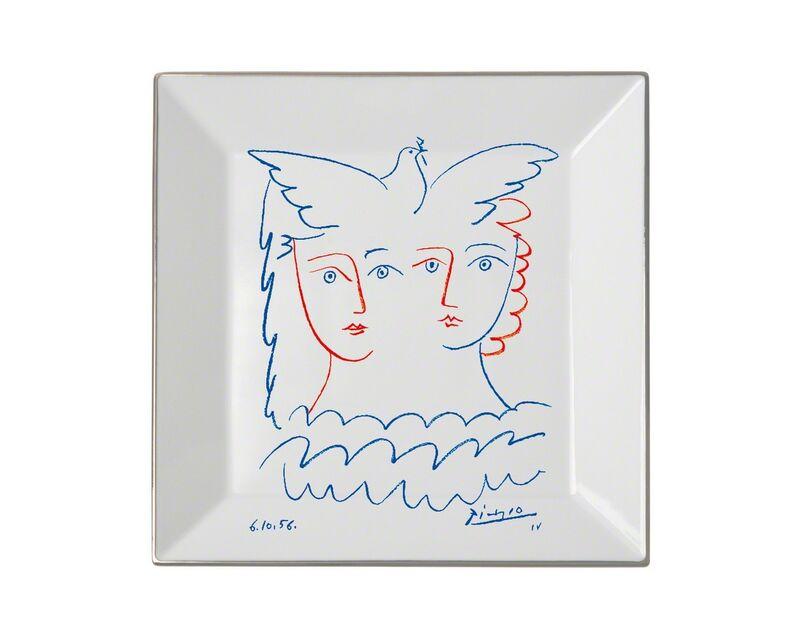 Pablo Picasso, 'Two Women with Dove Plate', 2016, Design/Decorative Art, Porcelain, Artware Editions