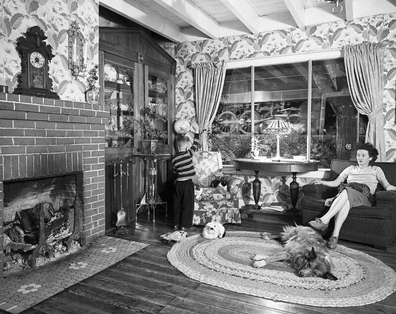 O. Winston Link, 'Hester Fringer's Living Room on the Tracks, Lithia, V.A.', 1955, Photography, Silver gelatin print, Jackson Fine Art
