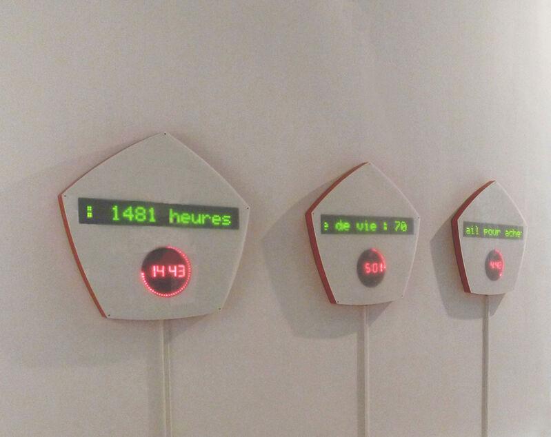 Olga Kisseleva, 'Time-Value', 2012, Sculpture, 5 Interactive sculptures,   electronic system, wood, plexi- glass (Russia, Belgium, India,   Monaco, USA), Jozsa