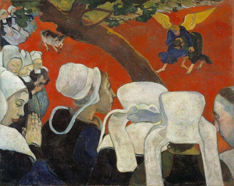 Paul Gauguin, 'La Vision du sermon (Vision of the Sermon)', 1888, Painting, Oil on canvas, Fondation Beyeler