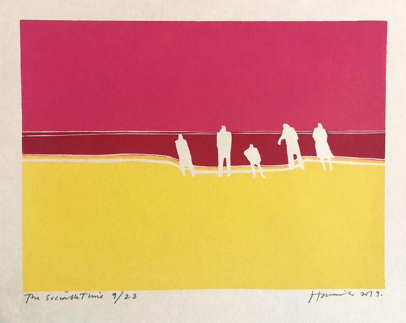 Tom Hammick, 'The Sociable Time', 2019, Print, Woodcut printed in colours, Lyndsey Ingram