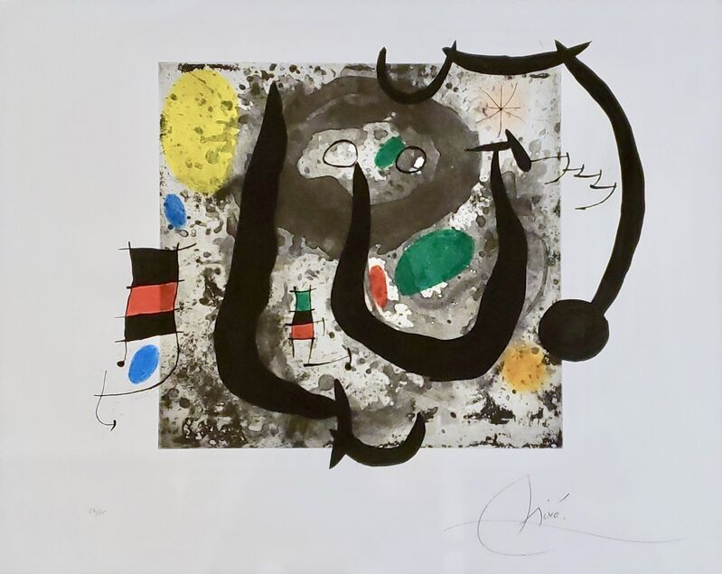Joan Miró, 'Les Armes Du Sommeil (D.533).', 1970, Print, Etching with aquatint and carborundum in colours on Chiffon de Mandeure paper., Off The Wall Gallery