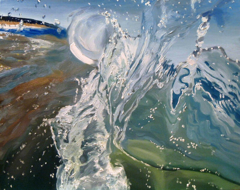 Stephen Wright, 'Wave Crest', 2019, Painting, Oil on canvas, George Billis Gallery