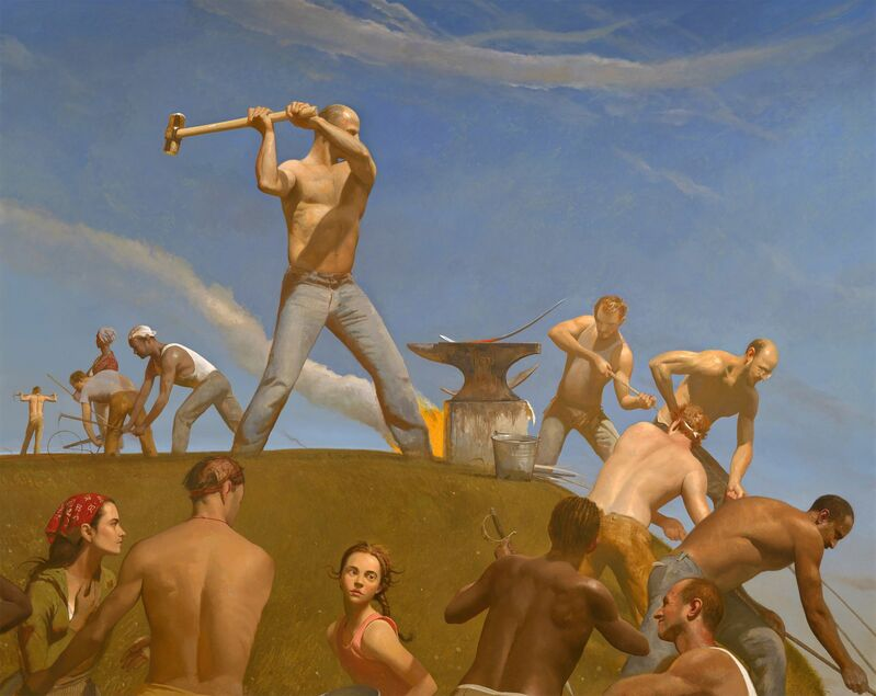 Bo Bartlett, 'The Forge (Swords into Plowshares)', 2008, Painting, Oil on linen, Forum Gallery