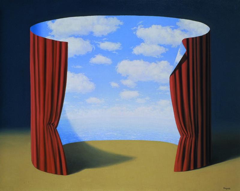 René Magritte, 'Les Mémoires d'un saint', 1960, Painting, Oil on canvas, Centre Pompidou