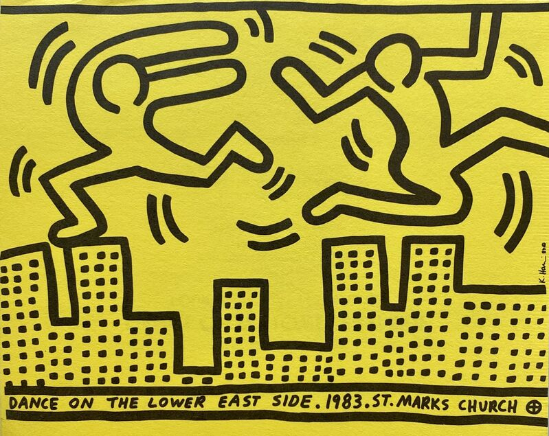 Keith Haring, 'Keith Haring Dance on the Lower East Side ', 1983, Ephemera or Merchandise, Offset printed announcement, Lot 180