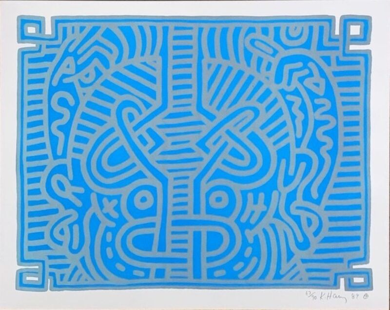 Keith Haring, 'Chocolate Buddha #1', 1989, Print, Lithograph, bG Gallery