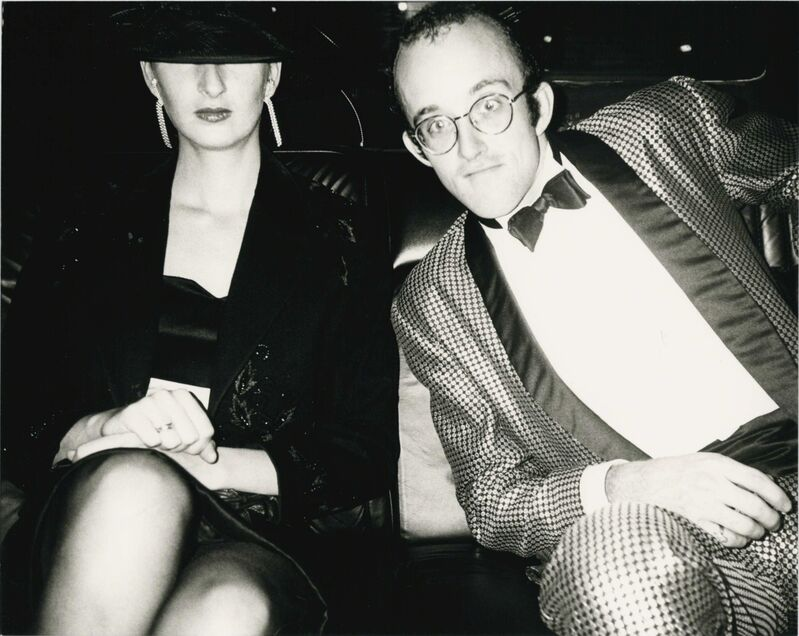 Andy Warhol, 'Andy Warhol, Photograph of Keith Haring and Julia Gruen, 1986', 1986, Photography, Silver gelatin print, Hedges Projects