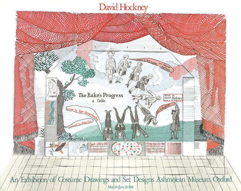 David Hockney, 'Stage Set Design from The Rakes Progress', 1981, Ephemera or Merchandise, Stone Lithograph, ArtWise