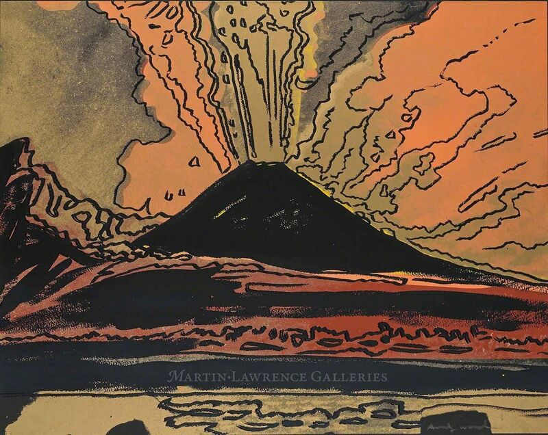 Andy Warhol, 'Vesuvius, 1985 (#365)', 1985, Print, Unique trial-proof hand-signed screenprint, Martin Lawrence Galleries