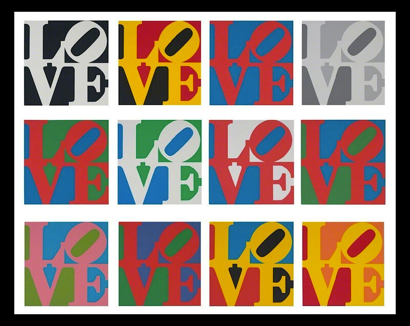 Robert Indiana, 'The Complete Portfolio, Book of LOVE', 1996, Print, 12 Serigraphs in colors on ANW Crestwood Museum Edition paper  PLUS- coordinating  LOVE poems with LOVE icon triple embossed on ANW Crestwood Museum Edition paper, Woodward Gallery