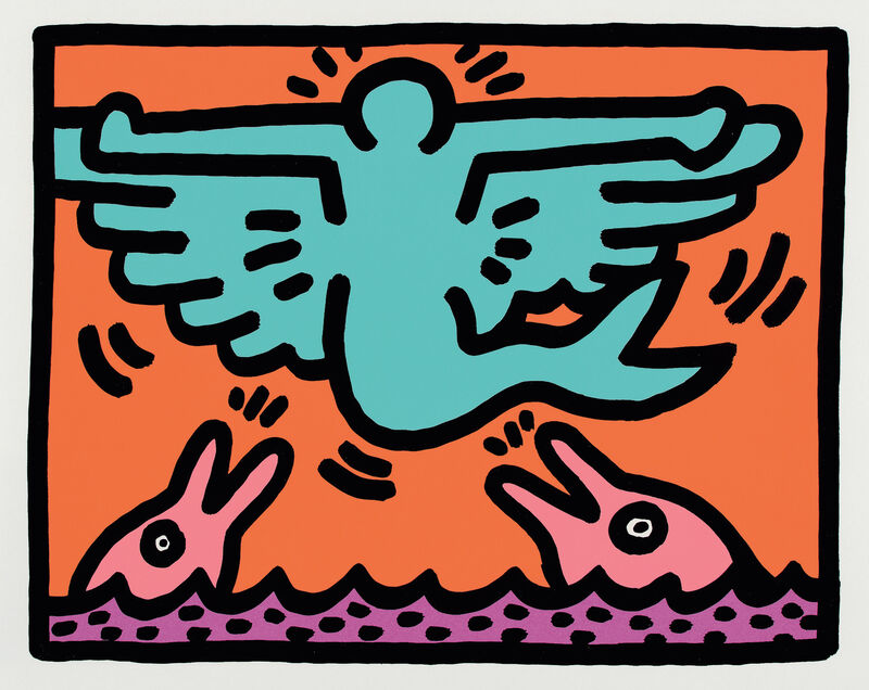 Keith Haring, 'Pop Shop V: one plate', Print, Screenprint in colors, on wove paper, with full margins., Phillips