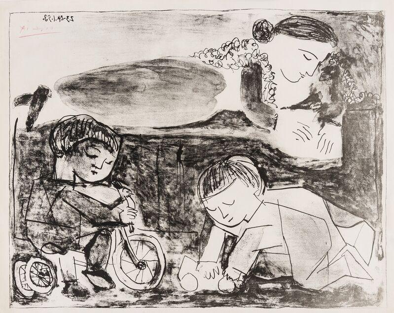 Pablo Picasso, 'Les Jeux et la lecture (Bloch 741; Mourlot 240)', 1953, Print, Lithograph, Forum Auctions
