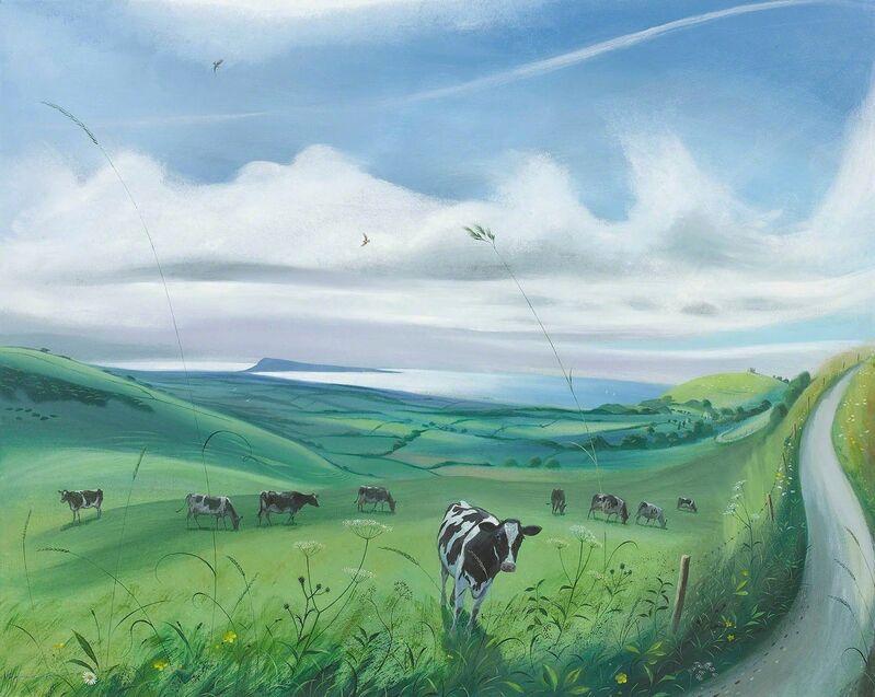 Nicholas Hely Hutchinson, 'Cows near Abbotsbury', 2017, Painting, Oil on Canvas, Portland Gallery