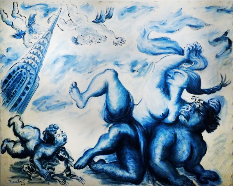Noriko Shinohara, 'Abduction of Cupita', 2013, Painting, Oil on canvas, Deborah Colton Gallery