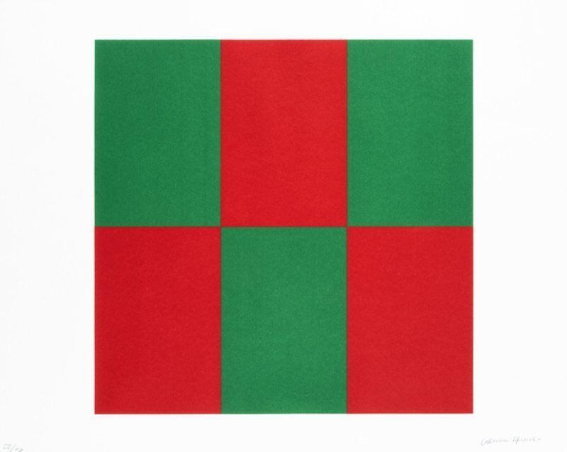 Carmen Herrera, 'Verde y Rojo for Studio', 2019, Print, Silkscreen in colours on Coventry Rag paper, Lougher Contemporary