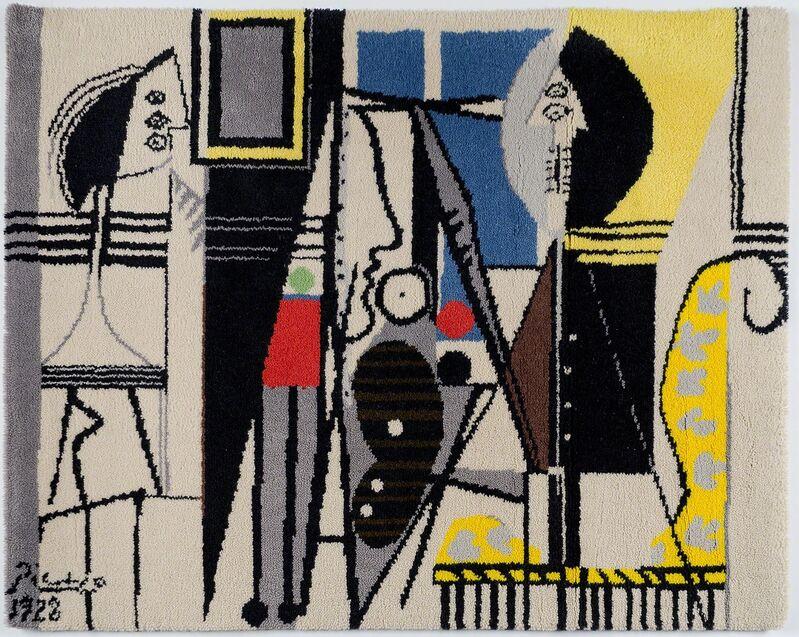 Pablo Picasso, 'LE PEINTRE ET SON MODÈLE', 1928, Textile Arts, Woven wool tapestry., Christopher-Clark Fine Art
