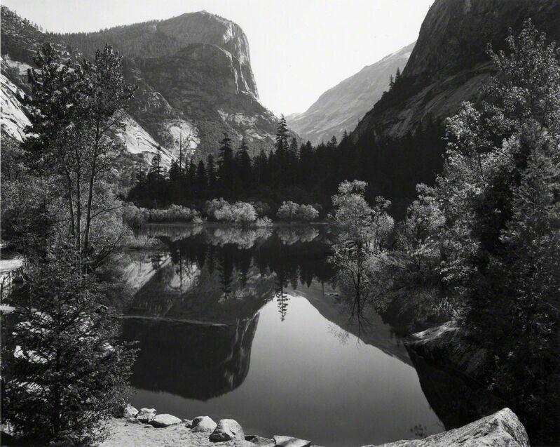 Ansel Adams, 'Mirror lake, Mount Watkins, Yosemite National Park', 1937, Photography, Gelatin silver print, G. Gibson Gallery