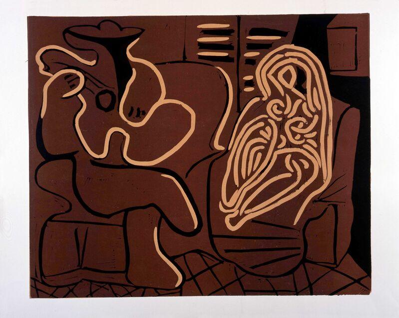 Pablo Picasso, 'L'Aubade avec Femme dans un Fauteuil', 1959, Print, Linocut printed in colours, Frederick Mulder