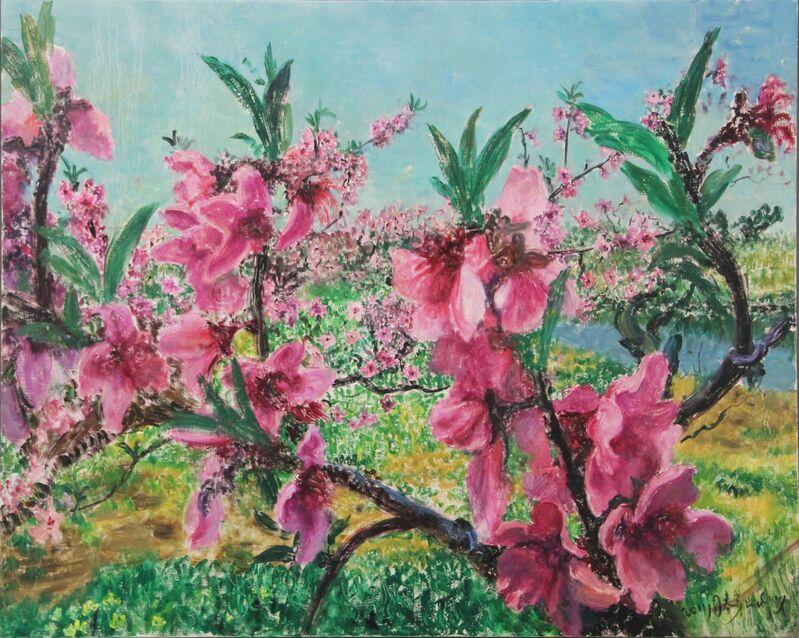 Zhou Chunya 周春芽, 'Peach Blossom', 2011, Painting, Oil on Canvas, Triumph Gallery Beijing