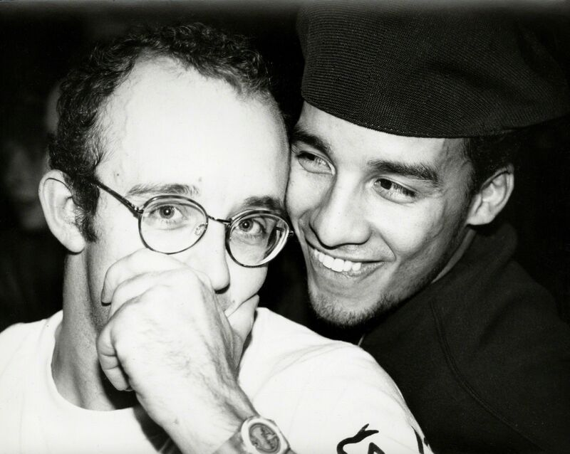 Andy Warhol, 'Andy Warhol, Photograph of Keith Haring with Juan Rivera  (smiling), 1986', 1986, Photography, Silver gelatin print, Hedges Projects