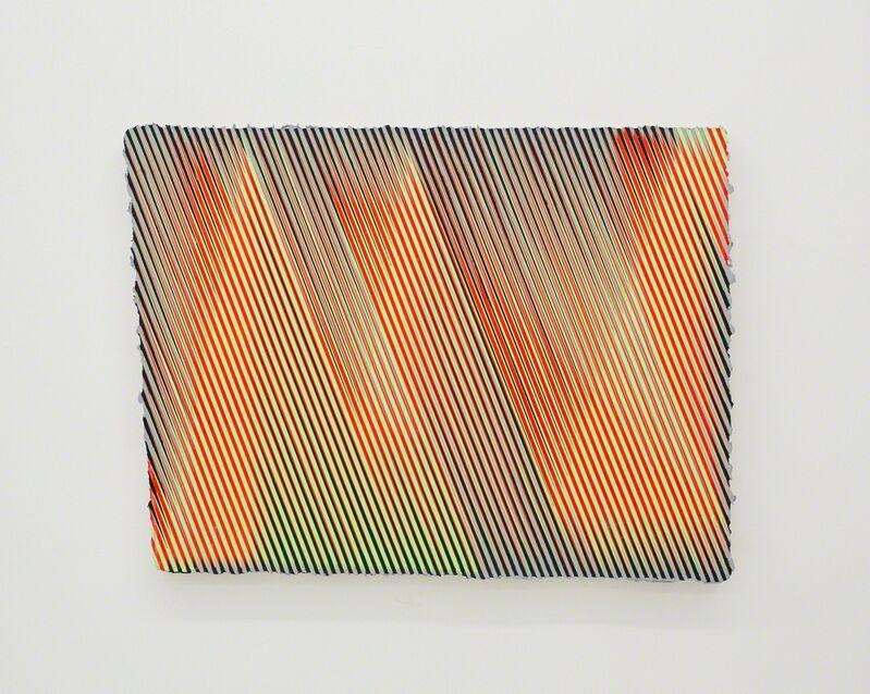 Palma Blank, 'GRN/RD_BLK/GRY_SHFT<', 2015, Painting, Acrylic on canvas, The Hole