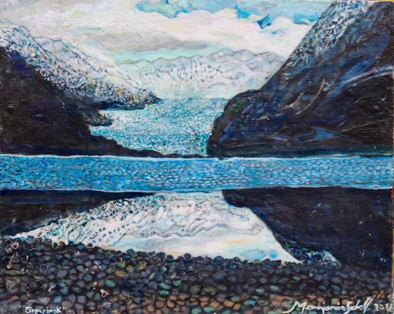 Marjorie Scholl, 'Glacial Lake', 2015, Painting, Acrylic on Plexi-glass, McVarish Gallery
