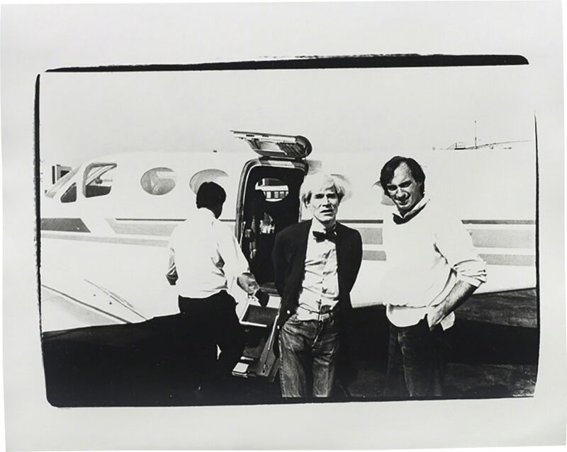 Andy Warhol, 'Andy Warhol and Jon Gould', ca. 1978, Photography, Silver gelatin print, Phillips