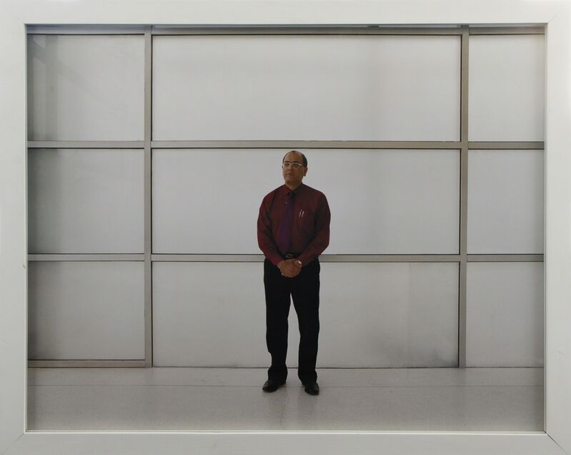 Bharat Sikka, 'Untitled IV (Executive man with grid)', 2001, Photography, Archival inkjet print, Nature Morte