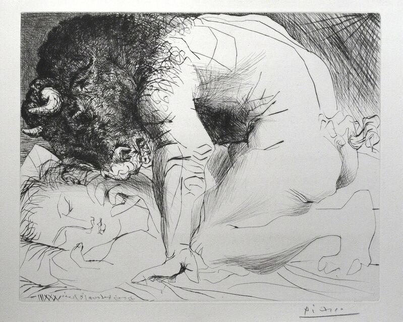 Pablo Picasso, 'Minotaure caressant une dormeuse', 1939, Print, Drypoint, R. S. Johnson Fine Art