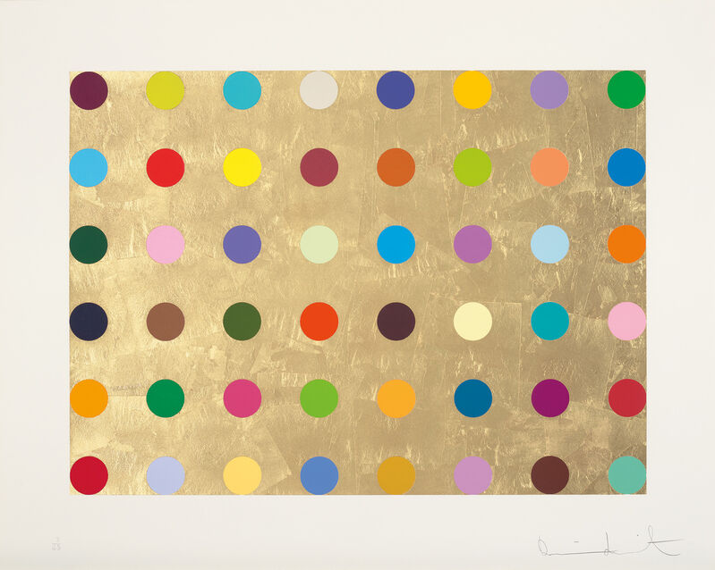 Damien Hirst, 'Gold Thioglucose', 2008, Print, Screenprint in colours with gold leaf, on Somerset paper, with full margins., Phillips