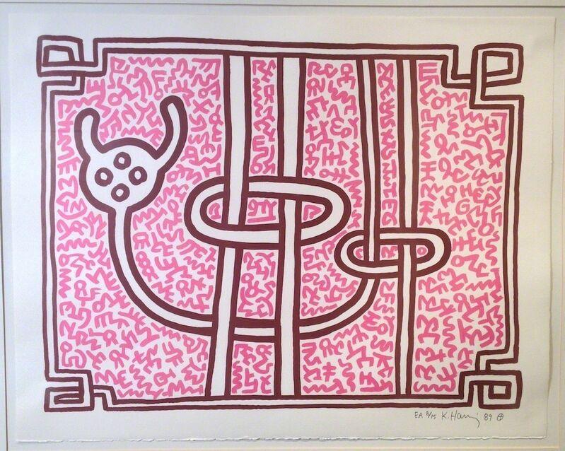 Keith Haring, 'Chocolate Buddha #3', 1989, Print, Lithograph, Vertu Fine Art