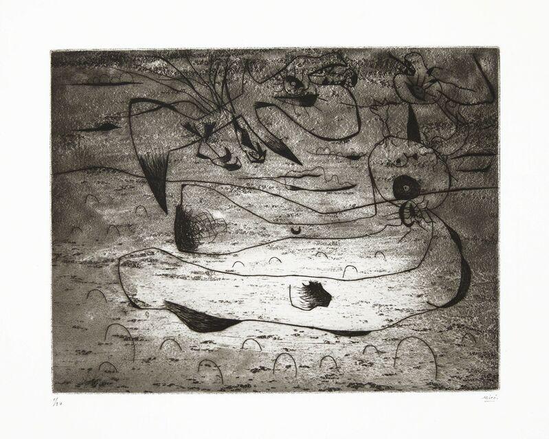 Joan Miró, 'L'Aigle et La Femme La Nuit', 1938, Print, Etching with drypoint, on Arches paper, Christie's