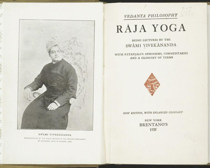 Swami Vivekananda, 'Raja Yoga. Tamil Nadu, India, 1944 reprint of 1896 edition', 1896/1944, Books and Portfolios, Book, Asian Art Museum