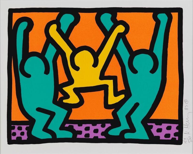 Keith Haring, 'Pop Shop I (B)', 1987, Print, Screenprint in colors on wove paper, Hamilton-Selway Fine Art