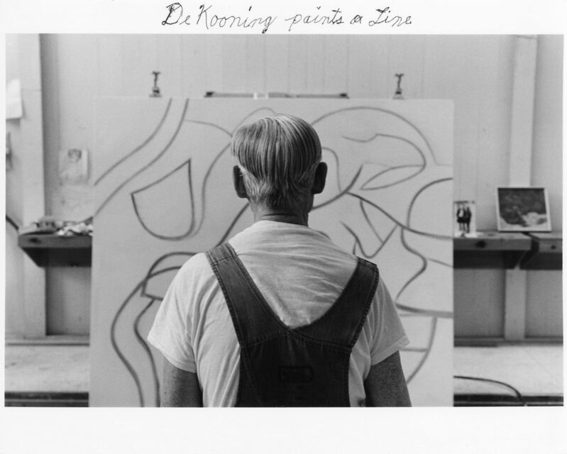 Duane Michals, 'Willem de Kooning', 1985, Photography, Gelatin silver print with hand-applied text, DC Moore Gallery