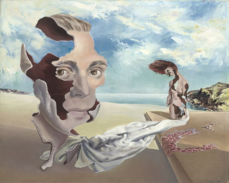 James Gleeson, 'We Inhabit the Corrosive Littoral of Habit', 1940, Painting, Oil on canvas, National Gallery of Victoria