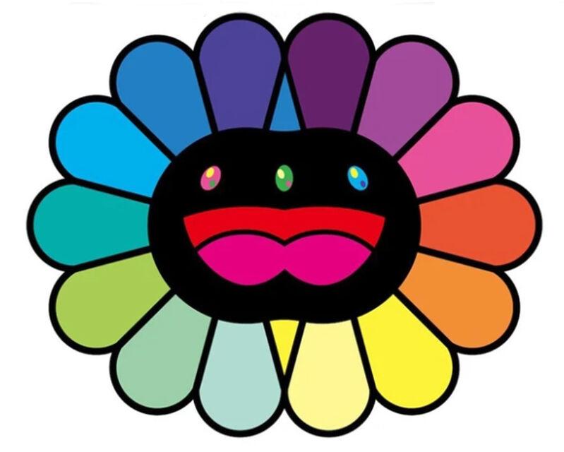 Takashi Murakami, 'Multicolor Double Face: Black', 2020, Print, Silkscreen, Lougher Contemporary
