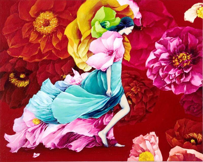 Eunhee Lim, 'Bad Flower Garden', 2016, Painting, Acrylic on Korean paper, Sinmi Gallery