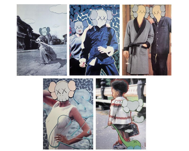 KAWS, 'KAWS x Undercover (set of five)', 1999, Print, Set of five offset lithographs, Artsy x Capsule Auctions