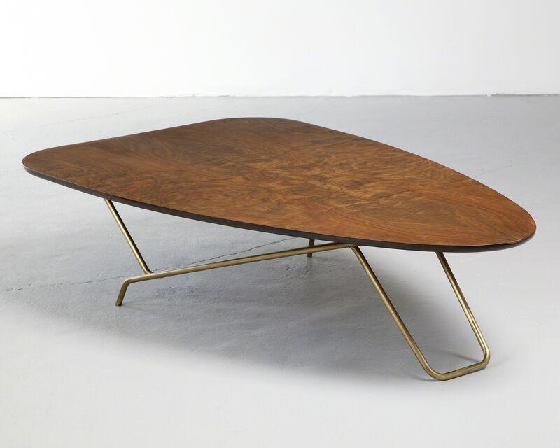 "Greta Magnusson Grossman, '""Ironing Board"" Coffee Table', 1952, Design/Decorative Art, Wood, brass, R & Company"