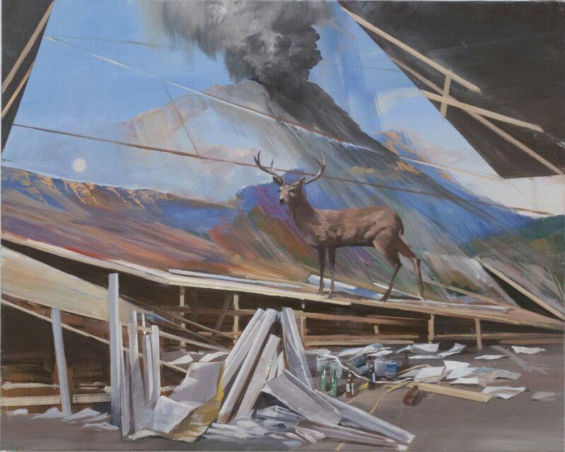 Adam Cvijanovic, 'Imaginary Studio with Deer', 2012, Painting, Oil on canvas, Postmasters Gallery