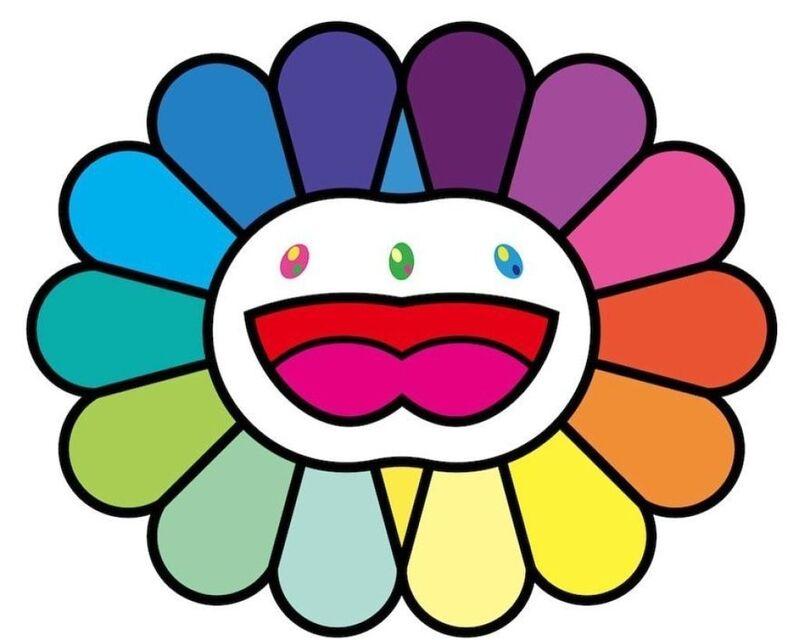 Takashi Murakami, 'Multicolor Double Face: White', 2020, Print, Silkscreen, Lougher Contemporary