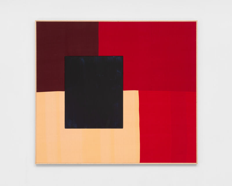 Ethan Cook, 'Untitled (Tennessee Flat Top Box)', 2019, Textile Arts, Hand woven cotton and linen, acrylic on aluminum, in two parts, framed, NINO MIER GALLERY