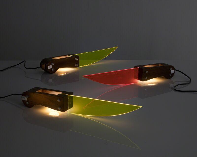 "Lapo Binazzi, '""Knife"" table lamp ', 2011, Design/Decorative Art, Walnut, Plexiglass, R & Company"