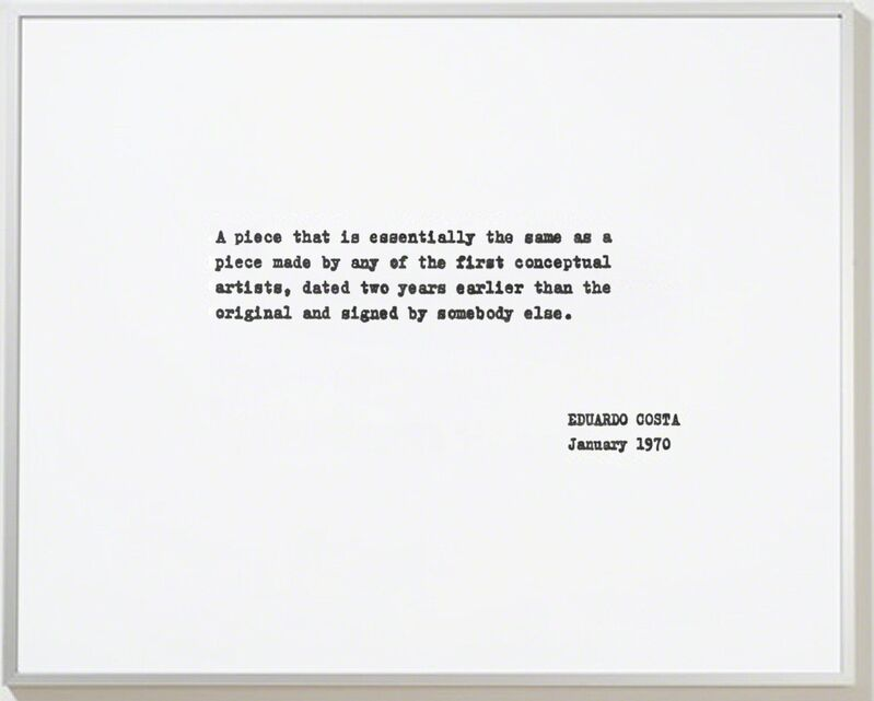 Eduardo Costa, 'A piece that is...', 1970-2008, Print, Inkjet on photo paper, framed., Cosmocosa
