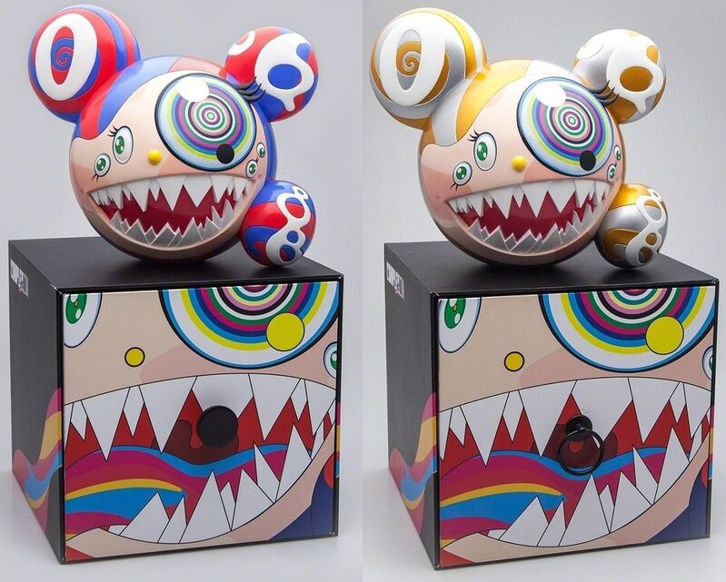 Takashi Murakami, 'Mr DOB Figure By BAIT x SWITCH Collectibles - Set of 2 (Gold & Red)', 2016, Sculpture, Painted cast vinyl, Lougher Contemporary